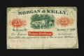 Obsoletes By State:Ohio, Bellaire, OH- Morgan & Kelly 25¢ Jan. 1, 1863. ...