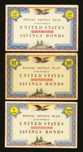 Miscellaneous:Other, 10¢; 25¢; $1 United States Savings Bonds Booklets - World War Two..... (Total: 3 items)