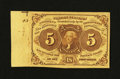Fractional Currency:First Issue, Fr. 1230 5¢ First Issue Choice About New....