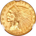 Indian Quarter Eagles, 1925-D $2 1/2 MS66 ★ NGC....