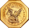 Territorial Gold, 1851 $50 LE Humbert Fifty Dollar, 887 Thous. 50 Rev.--Tooled--NGC.VF Details....