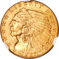 Indian Quarter Eagles, 1927 $2 1/2 MS65 NGC. CAC....