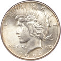 Peace Dollars, 1924-S $1 MS65 PCGS....