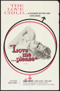 "Movie Posters:Sexploitation, Love Me...Please (J.E.R. Pictures, 1969). One Sheet (27"" X 41"").Sexploitation.. ..."