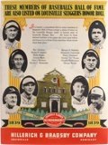 Baseball Collectibles:Others, 1939 Hillerich & Bradsby Large Advertising Sign....
