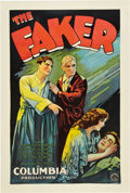 "Movie Posters:Drama, The Faker (Columbia, 1929). One Sheet (27"" X 41"") Style B.. ..."