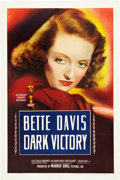 "Movie Posters:Drama, Dark Victory (Warner Brothers, 1939). One Sheet (27"" X 41"").. ..."
