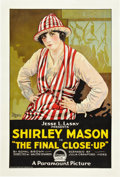 """Movie Posters:Drama, The Final Close-Up (Paramount, 1919). One Sheet (27"""" X 41"""").. ..."""