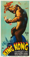 "Movie Posters:Horror, King Kong (RKO, 1933). Swedish Oversized (25.5"" X 47"").. ..."