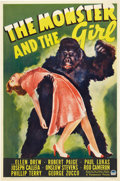 """Movie Posters:Horror, The Monster and the Girl (Paramount, 1941). One Sheet (27"""" X 41"""")....."""