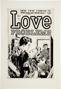 Original Comic Art:Covers, Lee Elias True Love Problems and Advice Illustrated #11Cover Original Art (Harvey, 1951)....