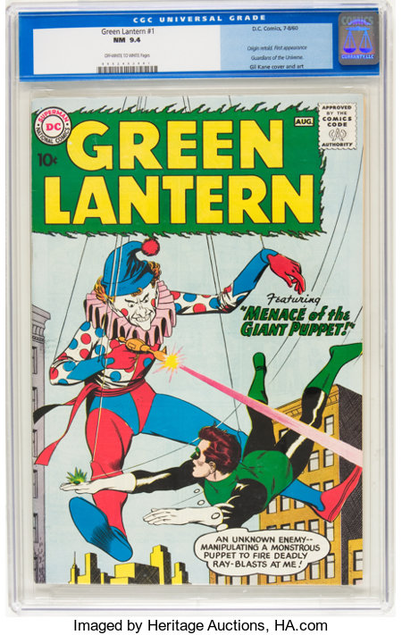 Green Lantern #1 (DC, 1960) CGC NM 9.4 Off-white to white pages....