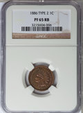 Proof Indian Cents, 1886 1C Type Two PR65 Red and Brown NGC....