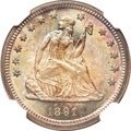 Seated Quarters, 1891 25C MS66 NGC....