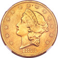 Liberty Double Eagles, 1873 $20 Open 3 MS62 NGC. CAC....