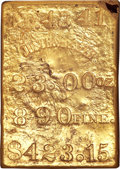 S.S. Central America Gold Bars, Small to Medium Size Justh & Hunter Gold Ingot....