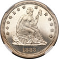 Proof Seated Quarters, 1883 25C PR66 NGC....