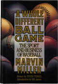 Baseball Collectibles:Publications, Marvin Miller Signed Book....