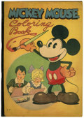 Platinum Age (1897-1937):Miscellaneous, Mickey Mouse Coloring Book #871 (Saalfield Publishing, 1931).Condition: GD...