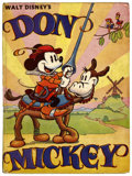 Memorabilia:Disney, Don Mickey Hardcover Book (London and Glasgow Collins Clear-Type Press, 1937)....