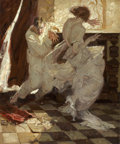 Paintings, DEAN CORNWELL (American, 1892-1960). The Garden of Peril, Cosmopolitan illustration, July 1923. Oil on canvas. 35 x 30 ...