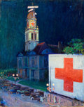 Mainstream Illustration, STANLEY MASSEY ARTHURS (American, 1877-1950). The Red CrossChurch -- WWI. Oil on canvas. 40 x 31 in.. Not signed. ...