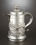 Silver Holloware, British:Holloware, A VICTORIAN OVERSIZED SILVER TANKARD. Charles Boyton II, , 1886-87.Marks: (lion passant) (leopard's head) (duty mark), CB...