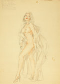 Paintings, ALBERTO VARGAS (American, 1896-1982). Ecce Corpus Delicti...Exit. Mixed media on paper. 29 x 19.5 in.. Not signed. ...