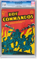 Golden Age (1938-1955):War, Boy Commandos #1 Pennsylvania pedigree (DC, 1942) CGC FN/VF 7.0 Off-white to white pages....
