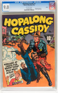 Golden Age (1938-1955):Western, Hopalong Cassidy #1 Denver pedigree (Fawcett, 1943) CGC VF/NM 9.0Off-white pages....