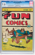 Platinum Age (1897-1937):Miscellaneous, More Fun Comics #25 (DC, 1937) CGC FN/VF 7.0 Cream to off-whitepages....