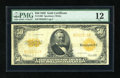 Large Size:Gold Certificates, Fr. 1200 $50 1922 Gold Certificate PMG Fine 12....