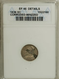Bust Half Dimes: , 1836 H10C Large 5C--Corroded, Whizzed--ANACS. XF45 Details. NGCCensus: (3/280). PCGS Population (6/194). Mintage: 1,900,00...