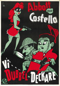 """Movie Posters:Comedy, Who Done It? (Universal, 1942). Swedish One Sheet (27.5"""" X 39.5"""")...."""