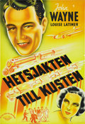 "Movie Posters:Action, California Straight Ahead (Universal, 1937). Swedish One Sheet(27.5"" X 39.5""). ..."