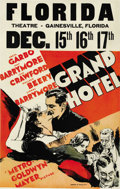 "Movie Posters:Drama, Grand Hotel (MGM, 1932). Window Card (14"" X 22""). ..."