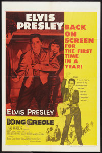 "King Creole (Paramount, R-1959). One Sheet (27"" X 41""). Elvis Presley"