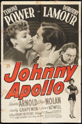 "Movie Posters:Crime, Johnny Apollo (20th Century Fox, 1940). One Sheet (27"" X 41""). Crime.. ..."