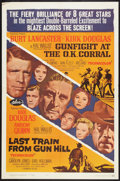 """Movie Posters:Western, Gunfight at the O.K. Corral/Last Train from Gun Hill Combo (Paramount, R-1963). One Sheet (27"""" X 41""""). Western.. ..."""
