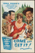 """Movie Posters:Romance, Come and Get It (Film Classics Inc., R-1944). One Sheet (27"""" X 41""""). Romance.. ..."""