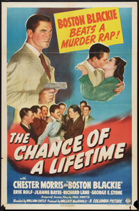 "The Chance of a Lifetime (Columbia, 1943). One Sheet (27"" X 41""). Crime"