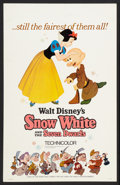 """Movie Posters:Animated, Snow White and the Seven Dwarfs (Buena Vista, R-1967). Window Card(14"""" X 22""""). Animated.. ..."""