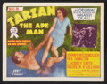 "Movie Posters:Adventure, Tarzan the Ape Man (MGM, R-1954). Lobby Card Set of 8 (11"" X 14"").Adventure.. ... (Total: 8 Items)"