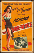 "Movie Posters:Crime, The She-Wolf (Republic, 1954). One Sheet (27"" X 41""). Crime.. ..."