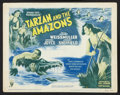 "Movie Posters:Adventure, Tarzan and the Amazons (RKO, R-1950). Title Lobby Card and LobbyCards (5) (11"" X 14""). Adventure.. ... (Total: 6 Items)"
