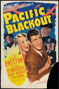 "Pacific Blackout (Paramount, 1941). One Sheet (27"" X 41""). Mystery"