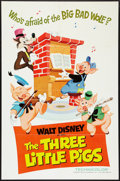 """Movie Posters:Animated, The Three Little Pigs (Buena Vista, R-1968). One Sheet (27"""" X 41"""").Animated.. ..."""