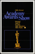 "Movie Posters:Miscellaneous, 39th Annual Academy Awards Poster (AMPAS, 1967). One Sheet (27"" X 41""). Miscellaneous.. ..."