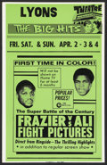"Movie Posters:Sports, Frazier vs Ali Fight (Cinerama Releasing, 1971). Window Card (14"" X 22""). Sports.. ..."