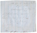"""Autographs:Military Figures, Confederate General William H. C. Whiting Signature, """"W. H. C. Whiting"""", on blue lined paper, 3.25"""" x 3"""". A sixteen year..."""